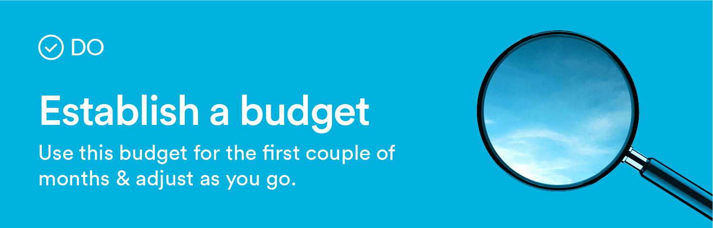 establish a budget