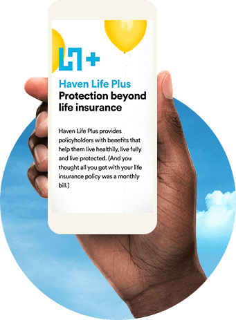 mobile Haven Life plus screen